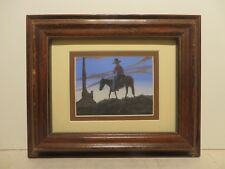 """4x5 org. watercolor painting by Aurthur C Begay of """"My Life at Monuments Valley"""""""