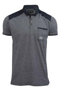 Mens Polo Shirt by Brave Soul 'Escalus' Short Sleeved Collared New