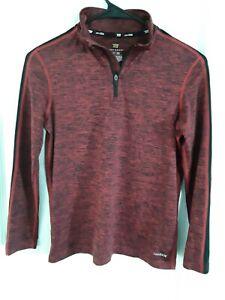 Tek Gear Boys Long Sleeve Activewear Shirt  - Size  Med - (10-12) - Red / Black