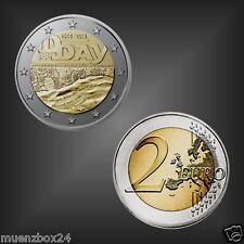 """Sondermünze Gedenkmünze 2 EURO """"70 Jahre DDay D-Day"""" Frankreich 2014"""
