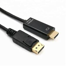 DISPLAYPORT DP TO HDMI HD GOLD CABLE LEAD WIRE ADAPTOR DISPLAY MONITOR PC LAPTOP