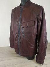 G-STAR RAW Men's Bomber Jacket 82616 Dk Fig Burgundy Size XL B443
