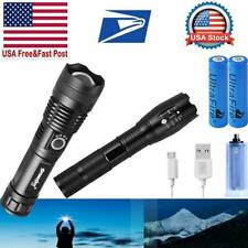 990000LM MOST POWERFUL XHP P50 FLASHLIGHT Focus Zoom TORCH HUNTING LAMP USA