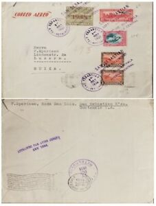 A) 1938, GUATEMALA, FROM SAN SEBASTIAN TO SWISS, AIRMAIL, POST OFFICE BUILDING,