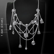 Skull Spider Web .925 Sterling Silver Necklace by Peter Stone