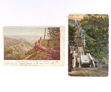 2 Vtg Mt. Lowe Railway Postcards 1909 Stamped Incline + Circular Bridge Writing