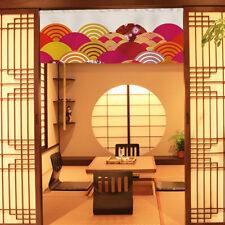 Japanese Noren Line Cotton Door Curtain Print Tapestry Doorway Home Decor Retro