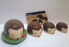 Hedgehog Ceramic Measuring Cup Set