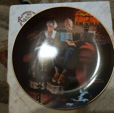 Norman Rockwell, Evenings Ease, Collector Plate, fourth in Series Knowles china