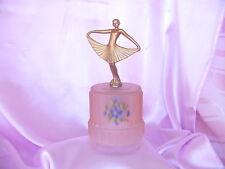 VINTAGE DECO 1930s-40s METAL FEMALE LADY FIGURE BEDSIDE NIGHT LIGHT LAMP REVERSE