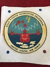 RARE! 433RD FIGHTER INTERCEPTOR SQUADRON DECAL - HARD TO FIND!!