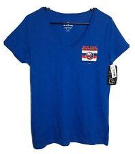 Official Nhl Hockey Women's New York Ny Islanders Xl Blue V-Neck T-Shirt Top Nwt