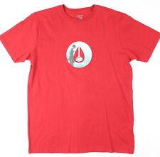 Nixon Mens SMS Daze Short Sleeve T-Shirt Red M New