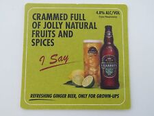 Beer Coaster Bar Mat ~ Refreshing CRABBIE'S Ginger Beer w/ Jolly Spices & Fruits