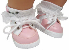 Pink Gym Shoes Sneakers For Bitty Baby + Twins Doll Clothes Sew Beautiful