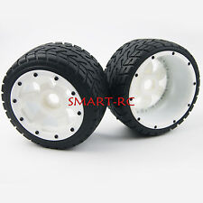 Rear on Road Wheel Tire Wheel fit HPI Baja Buggy 5B SS Rovan King Motor White SM