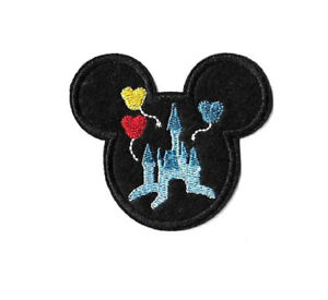 Mickey Mouse - Disneyland - World - Castle - Embroidered Iron On Applique Patch