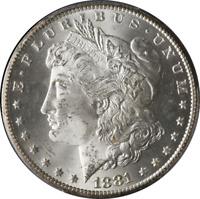 1881-CC Morgan Silver Dollar PCGS MS65 Blazing White Gem Fantastic Luster