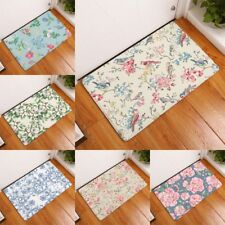 welcome home entrance door mats anti slip floral rose bird world pattern carpets