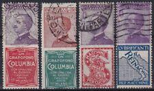 1924 REGNO D' ITALIA PUBBLICITARI LOTTO 4 VALORI USATO