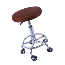 11-14'' Bar Stool Cover Round Chair Seat Cover Sleeve Elastic Farbic Coffee