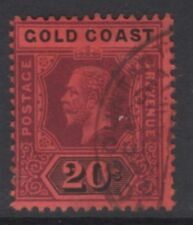 GOLD COAST SG84 1913 20/= PURPLE & BLACK/RED FINE USED