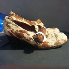 Zapatos de Piel de poni Vintage Con Hebilla De Plata 7
