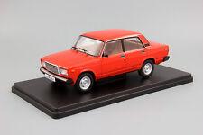 Scale car 1:24, VAZ-2107 Zhiguli red