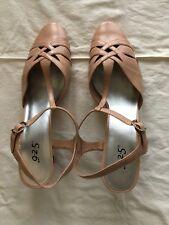 Size 10 W Dusty Pink 9 2 5 Heels: T-strap, Buckle Shoes