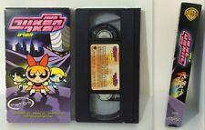 The Powerpuff Girls Movie Vhs Pal, Rare Speaking Hebrew Israel / Warner Bros