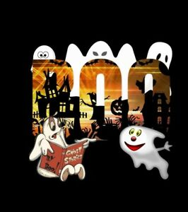 Halloween ghosts  choose either a t shirt transfer or sticker