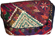 FREE PEOPLE Travel Organizer/Cosmetic Case-Multicolor Embroidery-100%Cotton-Coin