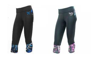 Jr Camo Capris Yoga Workout Leggings Pants Muddy Girl Purple Pink Undertow Blue