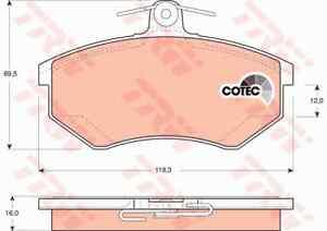 TRW GDB1048 FRONT DISC Brake Pad Set + BOLTS - SUITS Golf, Passat, SEAT Ibiza