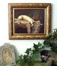 Borzoi Dog Print Antique Vintage Style Frame 11X13 Horse Pony Hound