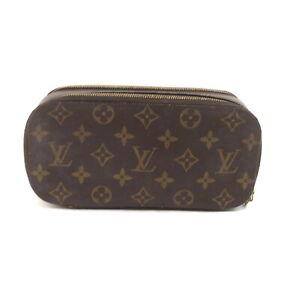 Louis Vuitton LV Cosmetic Pouch M47505 Trousse Blush GM Brown Monogram 1417858