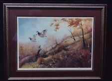 BERNARD MARTIN WILDLIFE PRINT QUAIL 1989 TWELVE BIRD COVEY