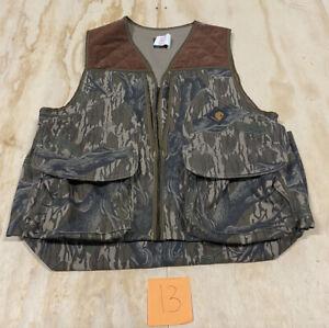 Vintage 1980's Carhartt Mossy Oak Camo Corduroy Hunting Vest Size Large