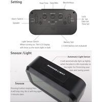 Hot LED Digital Clock Backlight Light Control LCD Snooze Electronic Alarm Clocks