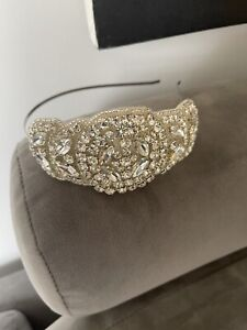 Beautiful Lily Bella Wedding Headband Hairpiece Rhinestone Crystal Art Deco Look
