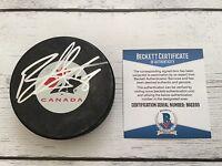 Ryan Getzlaf Signed Team Canada Hockey Puck Beckett BAS COA Autographed Ducks a