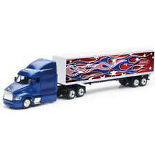 New Ray 1/43 Long Haul Trucker Peterbilt Model 387 Rainbow Flames Design 15553 C