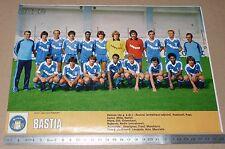 CLIPPING POSTER FOOTBALL 1980-1981 SEC BASTIA SECB CORSICA FURIANI