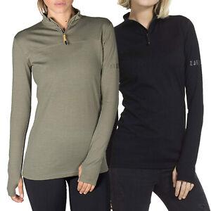 Zugspitze Damen Shirt mit 50%Merino-Anteil Longsleeve Langarm Funktionsshirt