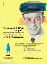 PUBLICITE ADVERTISING 076  1959  Gaz de France appareils   eau chaude