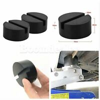 Car Rails Rubber Pad Slotted Frame Chassis Floor Jack Lifts Adapter 2X Universal