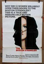 "Original Boston Strangler 1968 movie poster Tony Curtis Henry Fonda 27"" x 41"""