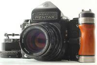 【 MINT w/ Hood ,Grip, Ring 】 Pentax 6x7 Eye Level M Up + SMC T 105mm f/2.4 JAPAN
