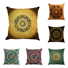 "18"" Vintage Floral Paint Flax Cushion Cover Throw Pillow Case Chair Home Decor"