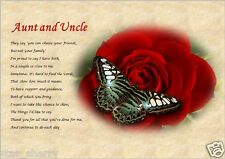 AUNT & UNCLE personalised poem (Laminated Gift)